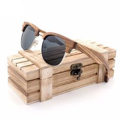 Timber Clubmaster Bamboo Wood Sunglasses [5 Variants]
