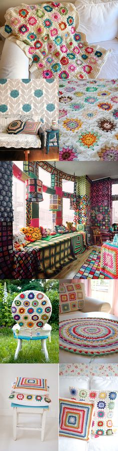 The rate I'm going, my house could end up draped in crochet blankets like this.  I have the hubby's approval...so onwards!