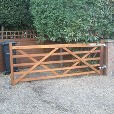 entrance gate for log cabin | iroko 5 bar gate softwood 5 bar gates 1 pair of tongue grooved gates 1 ...