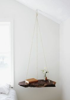 What a gorgeous idea! Refresh your garden or living room with DIY Hanging Table!The hanging table is not