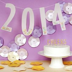 Craft up a New Year's Eve party complete with DIY jumbo sequins!