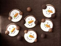 Schneemann-Kekse