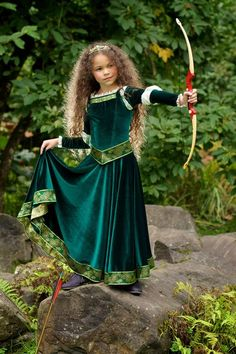 Merida Costume Brave Inspired Princess Gown by EllaDynae on Etsy Robes Disney, Disney Princess Costumes, Disney Princess Dresses, Disney Dresses, Disney Princesses, Princess Dress Patterns, Disney Costumes, Halloween Costumes For Girls, Girl Costumes