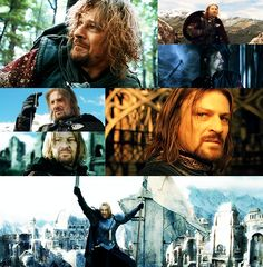 """reallyally: Top five Lord of the Rings characters t h r e e - Boromir of Gondor""""In a dream, I saw the Eastern sky grow dark. But in the West, a pale light lingered. A voice was crying, 'The doom is near at hand, Isildur's Bane is found.' Isildur's bane…"""""""