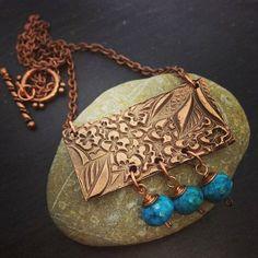 Large Handmade Copper Pendant & Indian by PreciousSparkleGifts, £29.00