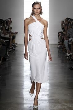 Cushnie Et Ochs, spring/summer 2014 , white cutout dress