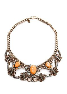 MANGO - TOUCH - Faceted stones bib necklace