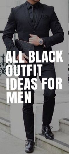 ALL BLACK OUTFIT IDEAS FOR MEN #mensfashion #fallfashion #streetstyle