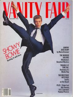 Vanity Fair January 1986 featuring David Bowie