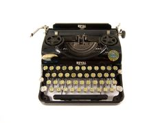 299 Euro - 1930's - Royal Portable Junior Typewriter - Rare condition - With Case - Cleaned and working by TheHammersmith on Etsy