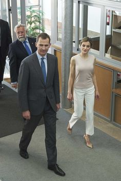 King Felipe VI of Spain and Queen Letizia of Spain visit the Observatory of…