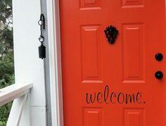 Welcome Vinyl Decal, Front Door Decals, Vinyl Door Decal, Custom Decals, Create Your Own Decal, Welcome Door Decal, Front Door Decor