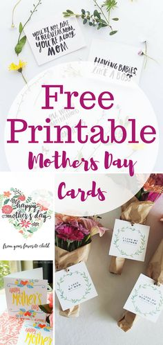 Free printables for Mothers Day. Easy gift ideas!