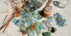 Collecting sea glass. What is it about finding sea glass that sends me to the moon?