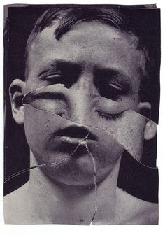 Ashkan Honarvar (b. 1980, Shiraz, Iran, based Netherlands, and Norway) - Faces from Identity Lost, 2009. Hand-Cut Collage. °