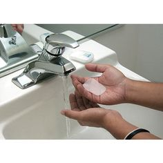Dissolving Hand Soap Sheets - great idea for road trips when you have to stop and realize there is no SOAP!