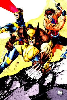 Cyclops, Wolverine and Gambit by Jim Lee