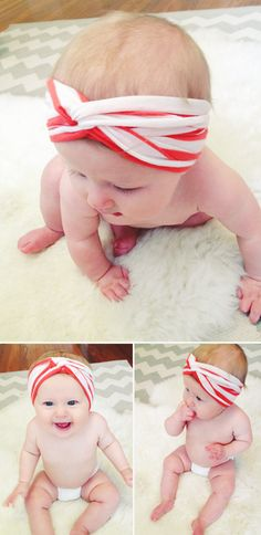 DIY: Baby Turban Headband / You could make a bandeu bra with this tutorial too