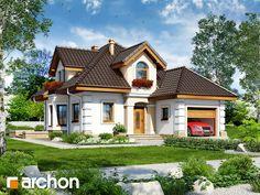 Projekt domu Dom w rukoli 4 - ARCHON+ Design Case, Model Homes, Home Fashion, Bungalow, House Plans, Villa, Floor Plans, Cabin, How To Plan