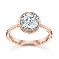 1.08 CT moderne chaîne Design Ring Band Round Cut Halo 14k solide or blanc