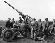 WWII photo Polish 75-mm flak model 1936, pin by Paolo Marzioli