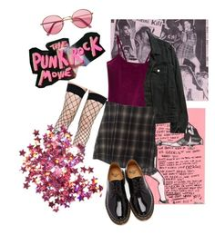 """""""Punk-rockish"""" by space-witch on Polyvore featuring moda, Leg Avenue, WithChic, American Apparel, Brandy Melville, H&M i Dr. Martens"""