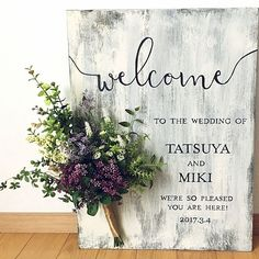 Wedding signs help elevate your theme, colors, and the mood of the party! Wedding Images, Wedding Cards, Diy Wedding, Wedding Gifts, Floral Wedding, Wedding Bouquets, Wedding Flowers, Wedding Welcome Board, Wedding Signage