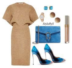 StyledbyS by sforstylebys on Polyvore featuring polyvore fashion style Rosetta Getty Casadei Gucci Kate Spade Victoria Beckham clothing WorkWear DateNight summerstyle celebirtyinspired
