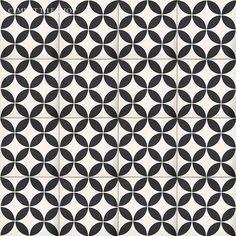 """Cement Tile Shop - Encaustic Cement Tile Circulos White - 12"""" x 12"""""""