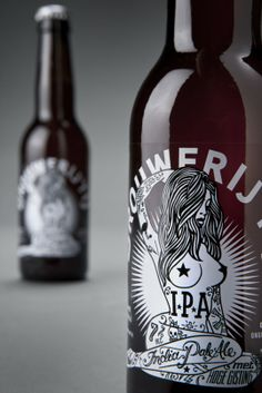 """Inspired by a tour of US microbreweries, Amsterdam's Brouwerij het IJ decided to create their own US-punk-style IPA. Branding studio Redthumb was given it's shortest ever brief (simply ""Tits, tattoos, and skulls"") and created a design with enough punch to match the full flavoured brew."