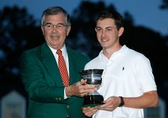 Augusta National Chairman and Low Amateur Patrick Cantlay during The Masters awards ceremony Pga Golf Tournament, Augusta National Golf Club, Masters, Photo Galleries, Awards, Couple Photos, Master's Degree, Couple Shots, Couple Photography