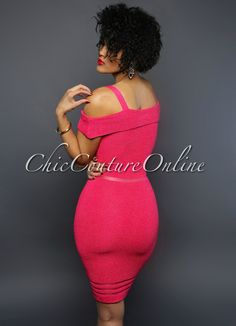 Chic Couture Online - Dash Pink Off-The-Shoulder Ribbed Dress, (http://www.chiccoutureonline.com/dash-pink-off-the-shoulder-ribbed-dress/)