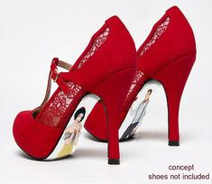 Custom hand painted Snow White shoes by AshtonAtelier on Etsy