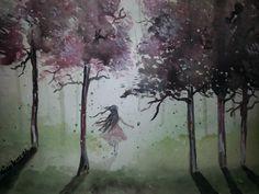"""Away"" Watercolor Painting"