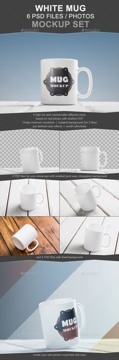 White Mug Mockup Set. Download here: http://graphicriver.net/item/white-mug-mockup-set-6-photos/15348119?ref=ksioks