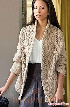 lovely cabled knit cardigan