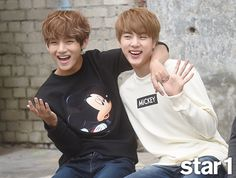 BTS V and Jin at Style - Star & Style Magazine
