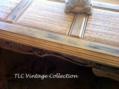 TLC Vintage Collection: 2014-12-28  Use Annie Sloan's Decoupage and Craqueleur on glass