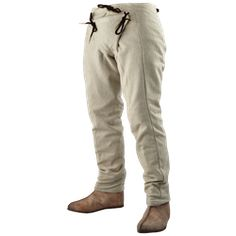 """Medieval linen breeches for men. For New Eden Township of 2035-2054 in book series, """"The Biodome Chronicles""""  by Jesikah Sundin (see board for """"Legacy"""", """"Elements"""" and """"Gamemaster"""")."""