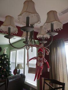 Elf On The Shelf Swinging Chandelier By Toilet Paper Roll