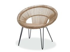 Rattan easy chair CRUZ LAZY CHAIR Curly Collection by Vincent Sheppard