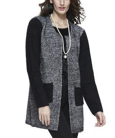 Look what I found on #zulily! Gray & Black Variegated Cardigan by Simply Couture #zulilyfinds