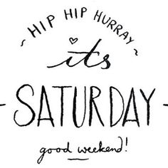 Wish you all a lovely weekend! #saturday ❤️