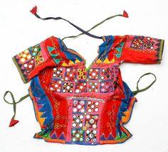 BANJARA MIRROR TRIBAL ETHNIC KUCHI BELLY DANCE OLD INDIAN COIN CHOLI TOP ATS