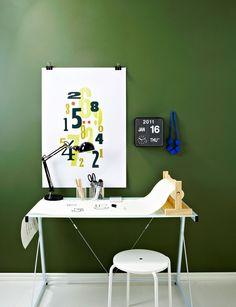 Green home office   Scandinavian Deko
