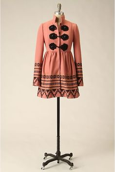 1a93ce15 Tracy Reese Elimovna Coat, Anthropologie 2009 Tracy Reese, Russian Fashion,  Russian Style,