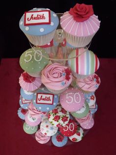 NIBBLE AND SCOFF CAKES - Wedding and Celebration Cupcake Gallery - love the colours