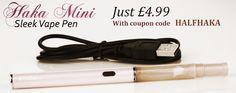 Ecig kit for £4.99 with coupon code HALFHAKA  www.weevape.com