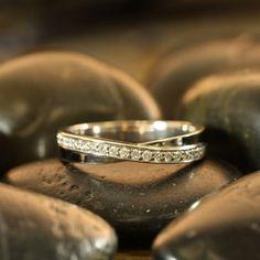 THIS! Infinity Diamond Ring 14k White Gold Women Wedding by LaMoreDesign, $698.00