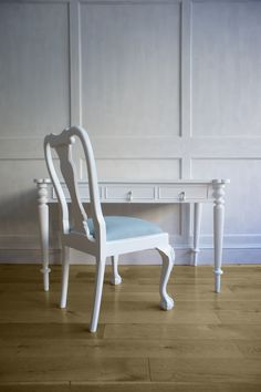 Queen Anne Dining Chair Painted White. Create Your Own Www.hiddenmill.com